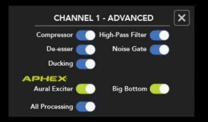 Audio instellingen